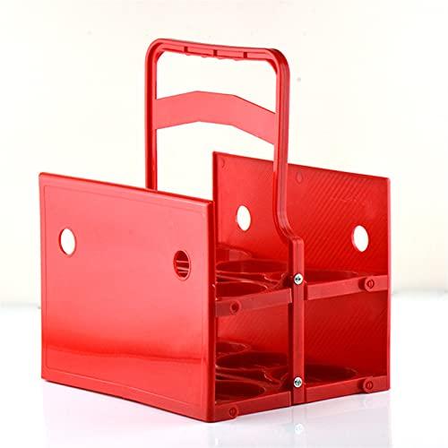Pieghevole Birra Birra Plastica Portavolo da 6 slot Portabottiglie portatile Ktv. Caddy della bottiglia di bevande del partito del bar (Color : Red M (7.2cm)01)