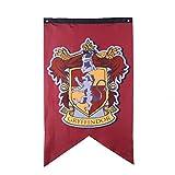 Multiculture Hogwarts Banner Flagge Gryffindor Ravenclaw Hufflepuff Slytherin Deco (Gryffindor)