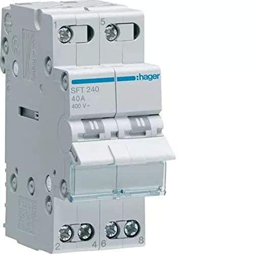 Hager–Commutatore Modular 2Poli 40A Comun Arriba I-0-Ii