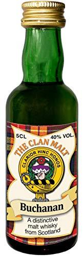 Buchanan Clan Crest Malt Whisky Miniaturflasche, Hergestellt in Schottland
