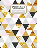 Primary Composition Notebook: Primary Composition Notebook Geometric Marble Primary Story Journal, Dotted Midline and Picture Space   Grades K-2   120 Story Pages, Size 8.5' x 11' by Peter Pieper