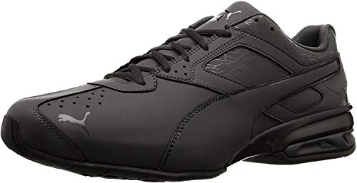 PUMA Men's Tazon 6 Fracture FM Sneaker, Black, 9.5 M US