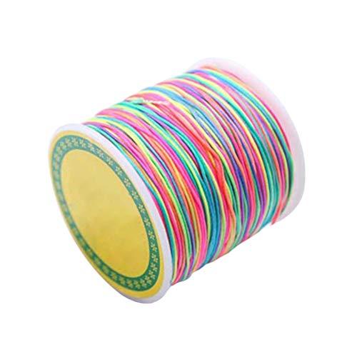 Healifty Bunte Bastelschnur Regenbogenschnur Perlenfaden Stretchschnur Bastelschnur Pony Perlenkette für Die Herstellung von Armbandschmuck