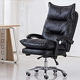 PULLEY Silla ergonómica de oficina para el hogar Silla de juego de masaje con respaldo alto para silla de ordenador (color negro)
