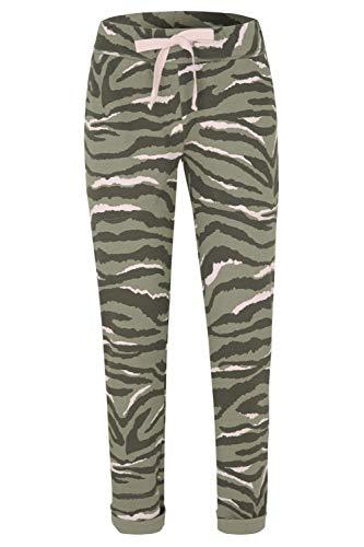 Juvia Damen Jogginghose Zebra Olive - S