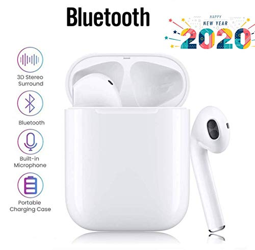 Bluetooth Kopfhörer,Bluetooth 5.0 Headset Stereo-Minikopfhörer HD-Klangqualität Sport Kabellose Kopfhörer mit Portable Mini Ladekästchen und Integriertem Mikrofon für Apple Airpod Android iPhone