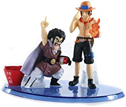 """Dragonball Z X One Piece Trading Figures - Mr. Satan & Trace (3.75"""" / 2.5"""" Figures)"""