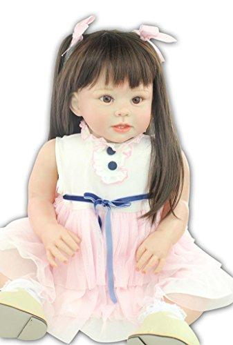 "TERABITHIA 28"" Soft Lifelike Change Clothes Reborn Baby Girl Dolls"