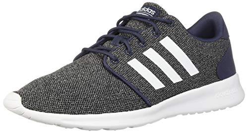 adidas Women's Cloudfoam Qt Racer Running Shoe, Trace Blue/White/Black, 9.5 M US
