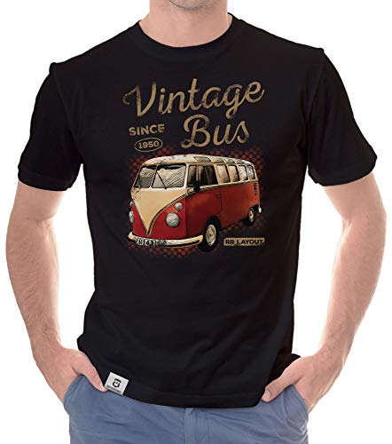 shirtdepartment - Herren T-Shirt - Oldtimer Collection mit wählbaren Designs 1-Vintage-Bus-Hellbraun XXXL