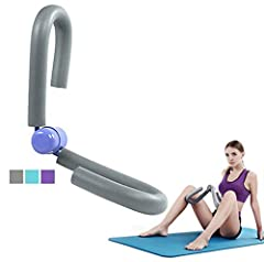 YNXing lårtrimmer, tunn kropp/lår toner, arm och ben tränare, motionscykel, idealisk för viktminskning och tunna lår, grå