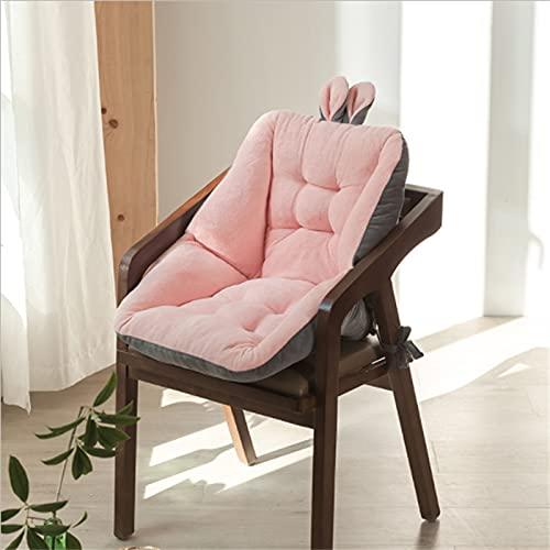 FFLLAS Cuscino del Sedile semichiuso, Cuscino del Sedile Morbido e Confortevole, Cuscino Antiscivolo con Lacci, tappetini per sedie da Ufficio Morbidi e delicati sulla Pelle 45 * 45 cm,Rosa