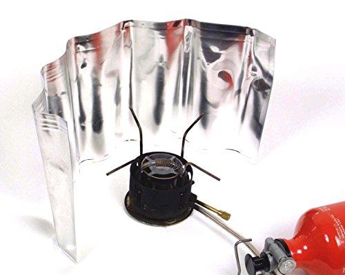 Alu Windschutz für Kocher - Rollbar 18x50cm