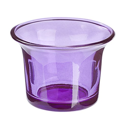 Teelicht Glas Lila, Windlicht, 10 Stk., mediterranes Wohnen