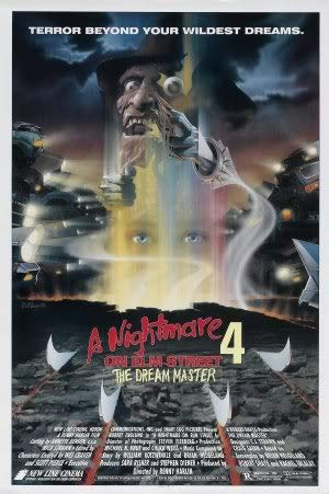 Nightmare ON ELM Street 4 - The Dream Master – Movie Wall Poster Print – A4 Size Plakat Größe Freddy Krueger