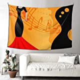 THKDSC Best Wall Tapestry Spanish Flamenco Dancer Large Tapestry Wall Hanging Walls Hanging 90x60 Inches(229x152cm) Wall Hanging Art Home for Living Room Bedroom