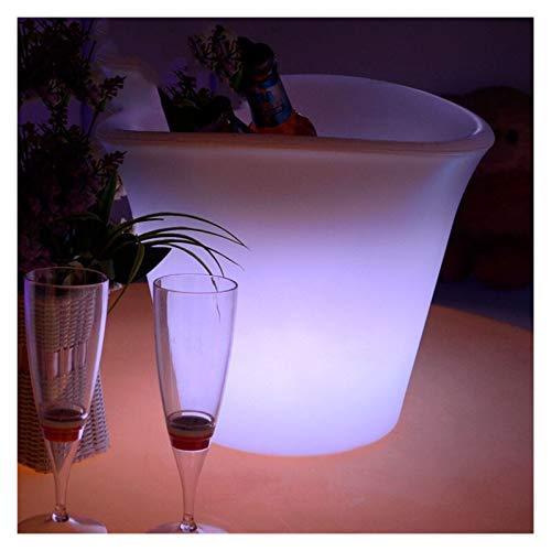 Cubo de hielo LED LUTINOUS BAR MUEBLES DE MUEBLES DE MUEBLES RGB ABRIGO COMPROPIO FULLOWANTE A Prueba De Agua Cubo De Hielo Champagne Barril Luminoso Vino Cubo De Vino Barrel Para fiestas, bar y bar.