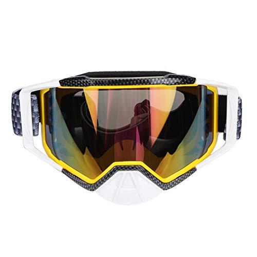 Duokon Gafas de moto, Gafas de motocross Gafas de protección antipolvo a prueba de polvo UV Moto UV