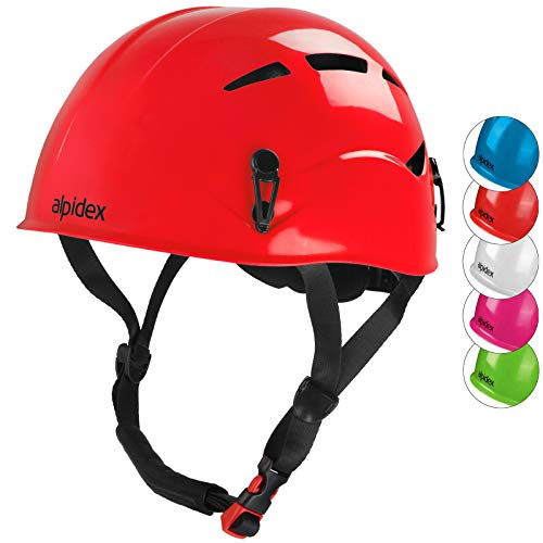 ALPIDEX Casque d escalade et d alpinisme Universel pour Les Enfants - en Beaucoup Couleurs Modernes (Ruby Red)