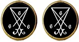 Satanic Earrings Altar Ritual Satan 666 Satanism Lucifer Demon Demonic Jewelry Art Picture Jewelry