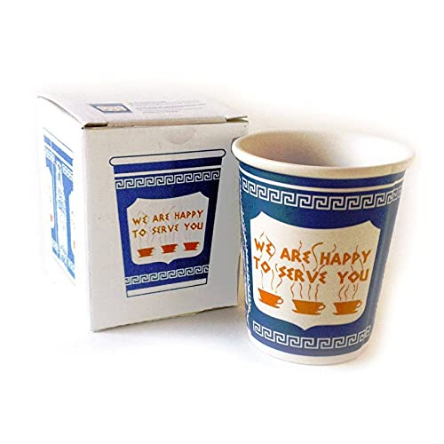 LIDABAO Taza de cerámica We are Happy to Serve You Coffee Cup for Kitchen Coffee Shop Restaurante, 30 ml