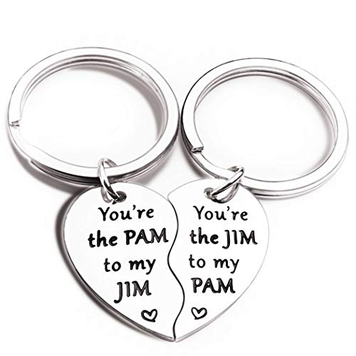 2Pcs Office TV Show Merchandise Keychain You are The Pam to...