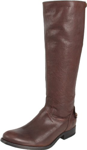 FRYE Women's Melissa Button Back Zip Knee-High Boot, Dark Brown Antique...