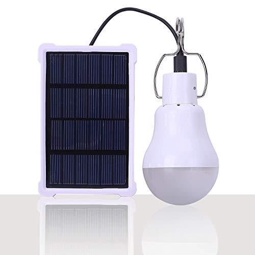 Ampoule Solaire Portable LED à Energie Solaire Lumière Lampe Solaire avec Panneau Solaire pour Eclairage Extérieur Randonnée Camping Tente de Pêche (1.5 W)