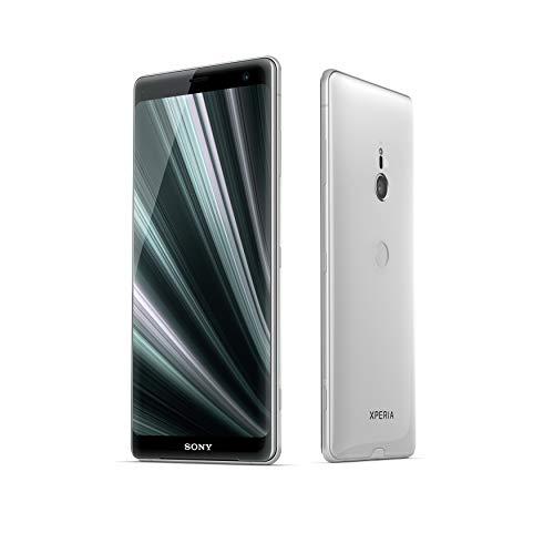 """Sony Xperia XZ3 - Smartphone con display OLED da 6"""" (64GB di memoria interna, 4GB RAM, Snapdragon 845, Android 9.0) + Micro SD da 64 GB [Italia] – Bianco argento"""