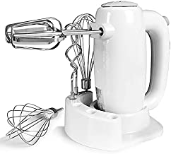 Gkcity Hand Mixer Electric,Kitchenaid Hand Mixer with 5 Speed, for Baking Cake Egg Cream,Turbo Boost Eject Button 6 Stainless Steel Accessories with Storage Case 200W