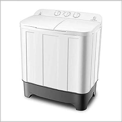 XER Mini Portable Twin Tub Washing Machine Electric Mini Compact 8.8Kg Large Capacity +6.0Kg Drying Capacity Washer Spin Dryer - 75X43x84cm