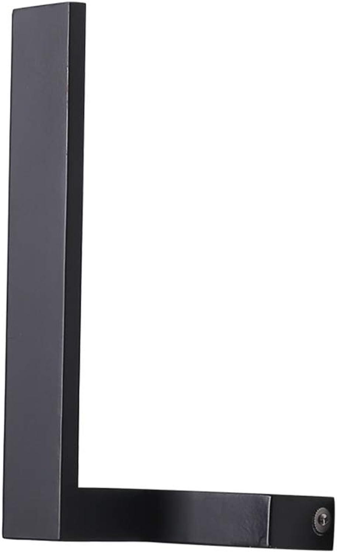 Nachtwandleuchten, nordischen Stil LED kreative Kunst Persnlichkeit moderne einfache Eisen Acryl Dekor (warmes Licht),schwarz