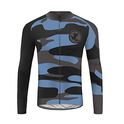 Uglyfrog Slj47 - Camiseta de ciclismo para hombre, manga larga, primavera, otoño, Hombre, color Couleur 01, tamaño Taille Large