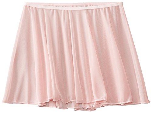 Clementine Apparel Girls' Little (2-7) Chiffon Ruffle Pull On Wavy Dance Ballet Skirt Dancwear Costumes, Light Pink, Toddler/Small