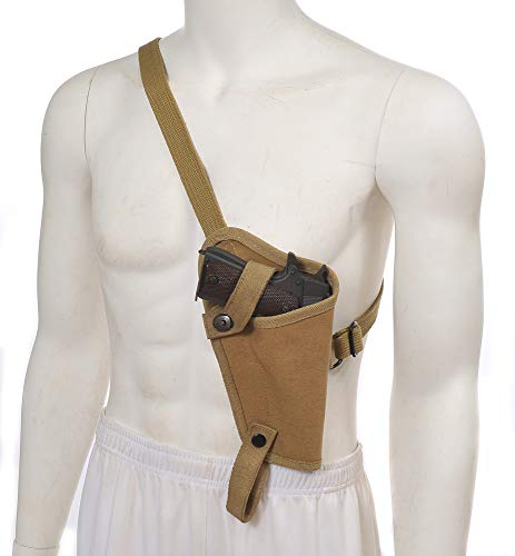 World War Supply US M3 Khaki Canvas M1911 .45 Tanker Shoulder Holster Marked JT&L for Colt 1911 and Similar Size semi Autos