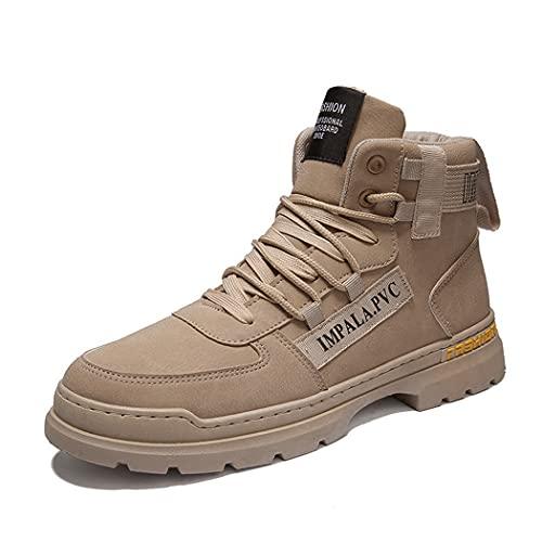 huasa Botas de Nieve para Hombre,Hombre Mujer Impermeables Zapatillas de Senderismo Montaña,Escalada Aire Libre Calzado Impermeable Ligero Antideslizantes Sneakers,40-Brown
