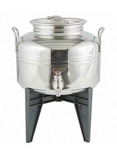 direct&friendly Edelstahlbehälter Olivenölfaß mit Zapfhahn (5 Liter)