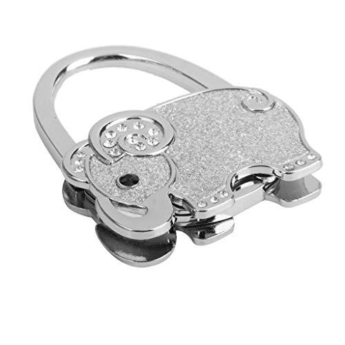 Goodplan Handtasche hängen Schnalle Handtasche Haken Elefant Muster faltbare Taschenhalter Tisch Kleiderbügel Strass Kleiderbügel Handtasche Zubehör