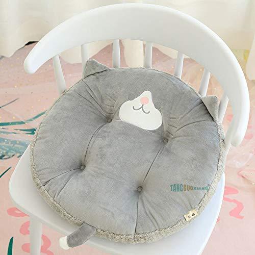 HGGF 45cm felpa juguetes cojín para amigos respaldo silla niños niñas regalos (perro gris, 45cm)