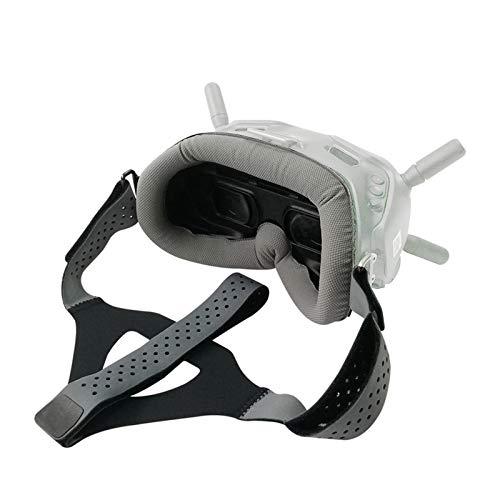 DJFEI Accesorios FPV Combo Drone, Almohadilla para los Ojos de la Placa Frontal para dji FPV Combo Goggles V2, Correa para la Cabeza Banda para la Cabeza para dji FPV Combo Drone Goggles V2 (Gris)