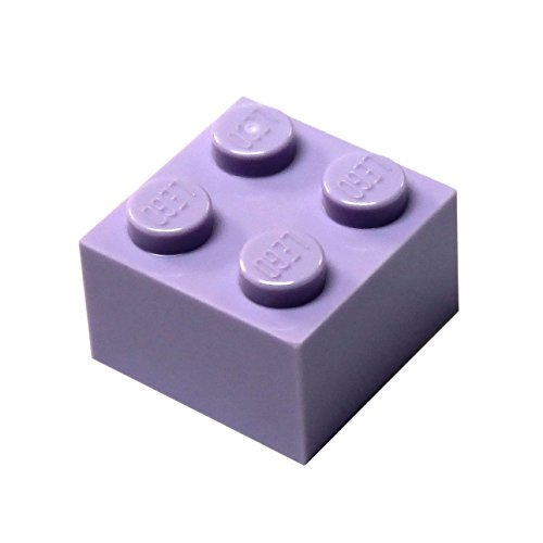 LEGO Parts and Pieces: Lavender (Medium Purple) 2x2 Brick x50