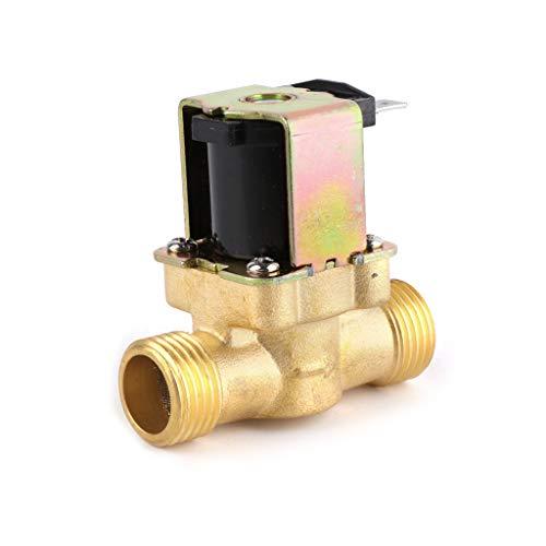 Rosca de polietileno, agua caliente, normalmente cerrada, válvula de entrada de 4 puntos, CC 12 V, calentador de agua solar, bobina magnética, válvula magnética