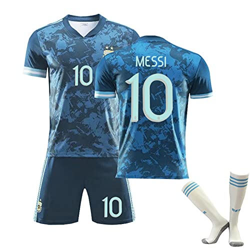 Backboards 2021 European Cup Jersey,Argentina Camiseta Primera Segunda Equipación,Hombre Camiseta de Manga Corta,por Portero Unisex Adulto,con Calcetines,Blue10,28