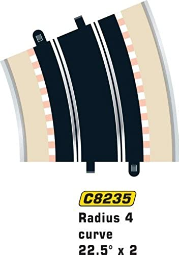 Scalextric C8235 Radius 4 Curve 22.5 degree x2 1 32 Scale Accessory by Scalextric