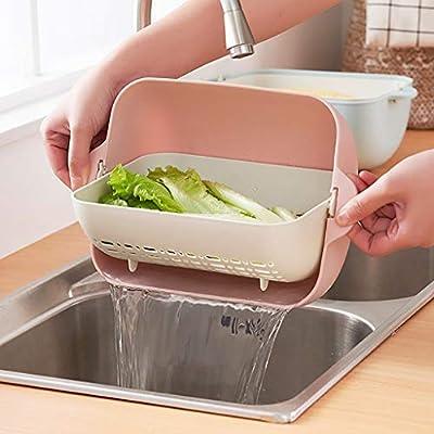 Karamoda Double Drain Baskets For Kitchen Sinks...