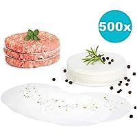 gourmeo Premium hamburguesas + 500 hojas de papel antiadherente | 2 años Garantía de satisfacción. Antihaftpapier