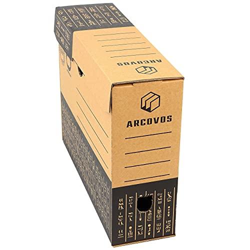 ARCOVOS® Lot de 10 Boites d'Archives Uniques A4 - MADE IN FRANCE - ULTRA-RÉSISTANTE - Dos 100mm – Carton 100% Recyclable - Design PHARAONIQUE - Rangez vos précieux documents