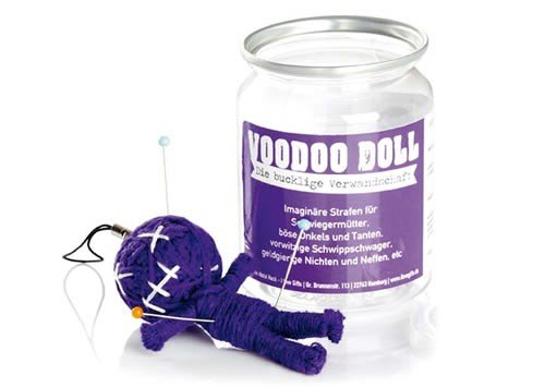 Voodoo Doll in Dose +++ LUSTIG von modern times +++ DIE BUCKLIGE VERWANDTSCHAFT - VOODOO-DOLL +++ I LOVE GIFTS