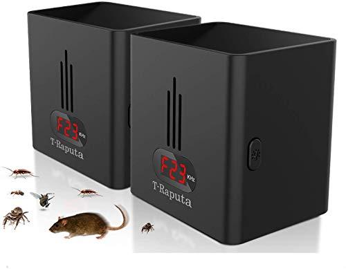 T-Raputa antizanzare ultrasuoni, Ultrasuoni per Topi [Upgrade] LED Night Light Repellente per Insetti 2 in 1 Contro zanzare, Topi, formiche, Mosche, Ragni e scarafaggi