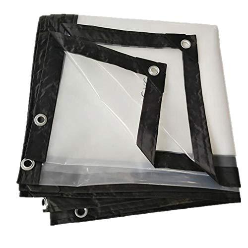 QYJPB Bâche Bâche Transparente Transparente De Bâche en Plastique Imperméable De Tissu en Plastique - Housses de Protection pour Plantes (Taille : 5x5m)